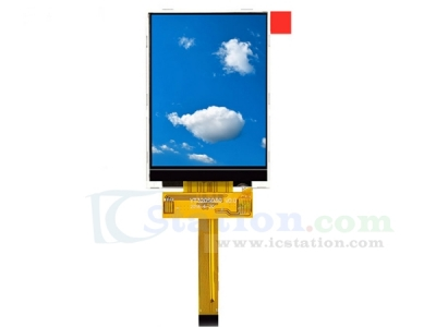 DC 3.3V 3.2inch TFT LCD Touch Display Screen 240*320 0.5mm 18Pin ILI9341 Driver 90mA 0.32W SPI Interface 240x320 Resolution