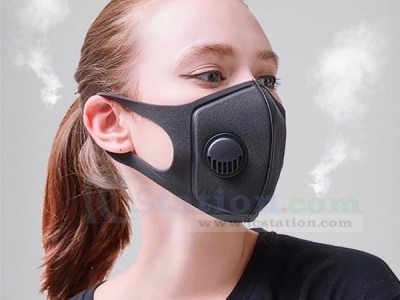 Anti Dust Mask PM2.5 Activated Carbon Filter Face Mouth Mask Anti Fog Haze Pollen Respirator Black Color