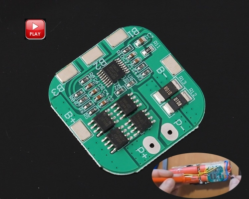 4S 6A BMS Protection PCB Board 14.8V 16.8V Lithium Li-ion 18650 Battery Packs