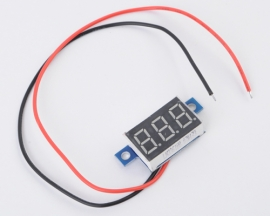 Green LED Panel Meter Li Battery Digital Voltmeter DC 3.3-17V