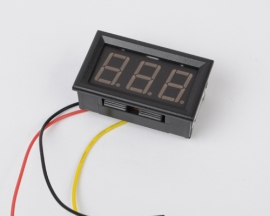 3 Wire Red LED DC 100V Digi Volt Panel Meter Voltmeter 0-99.9V