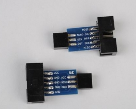 10 Pin to 6 Pin Adapter Board for ATMEL AVRISP USBASP STK500