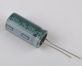 1500uF 25V 105°C Radial Electrolytic Capacitor 13mm*25mm