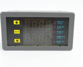 DC 0-90V 20A Multifunction Dual Display Power/Capacity/Time Mete