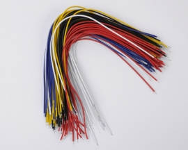 100 Double Tin Wire 20cm 5 Color Each 20