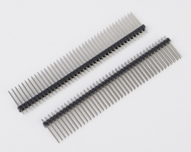 2x40Pins 2.54mm Double Row Male Pin Header 19mm Extended Pin