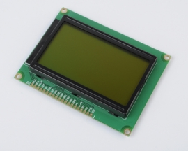 128X64 5V Yellow/Green Dot Graphic Matrix LCD Module Display LCM