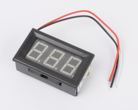 3 Wire Mini Green LED DC 0V-99.9V Panel Meter Digital Voltmeter