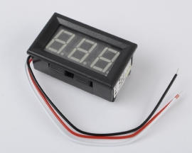 3 Wire Mini Yellow LED DC 0V-99.9V Panel Meter Digital Voltmeter
