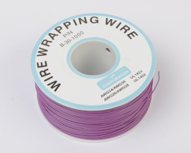 Purple 300m φ0.5mm Inner φ0.25mm 1 Strand Copper Wire