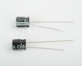 220uF 16V 105℃ Radial Electrolytic Capacitor