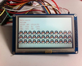 "4.3"" TFT LCD Module Display + Touch Panel + PCB adapter"