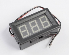 Yellow LED Panel Meter Digital Voltmeter DC 0-200V with box