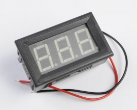 Yellow LED Panel Meter Digital Voltmeter DC 5-120V with box