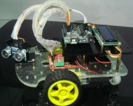 Remote Control Ranging Car Smart Car Kit Intelligent Car for Arduino