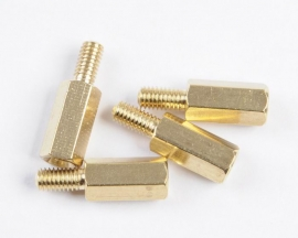 M3 Male 6mm x M3 Female 10mm Brass Standoff Spacer M3 10+6
