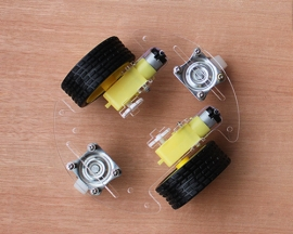 2WD V8 Smart Car Chassis Robot Tracking Coded Disc