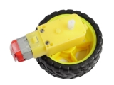 Smart Car Robot Plastic Tire Wheel + DC Gear Motor 3v 5v 6v