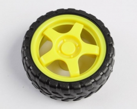 Small Smart Car Model Robot Plastic Tire Wheel 66mm x 26mm