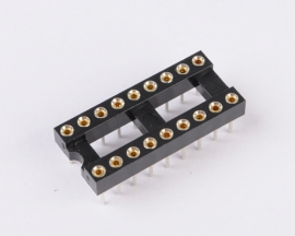 18 Pin Round 2.54mm Pitch DIP IC Adaptor Sockets