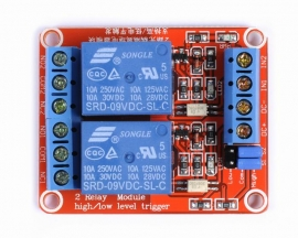 9V 2-Channel Relay Module with Optocoupler H/L Level Triger for