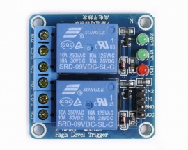 9V 2-Channel Relay Module High Level Triger Relay shield for Ard