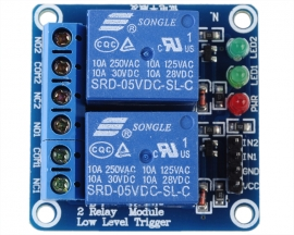 5V 2-Channel Relay Module Low Level Triger Relay shield for Ardu