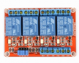 5V 4-Channel Relay Module with Optocoupler H/L Level Triger for Arduino