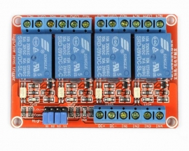 9V 4-Channel Relay Module with Optocoupler H/L Level Triger for Arduino