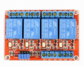 24V 4-Channel Relay Module with Optocoupler H/L Level Triger for