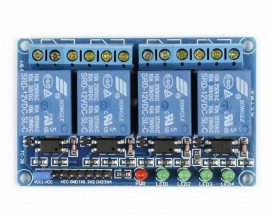 12V 4-Channel Relay Module with Optocoupler High Level Triger fo