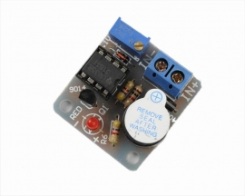 12V Accumulator Sound Light Alarm Buzzer Prevent Over Discharge Module