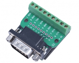 DB9-G1 DB9 Nut Type Connector 9Pin Male Adapter Terminal Module