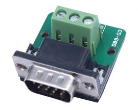 DB9-G3 DB9 Teeth Type Connector 3Pin Male Adapter Terminal Modul