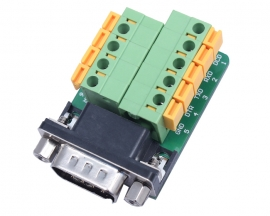 DB9-G6 DB9 Nut Type Connector 9Pin Male Adapter Terminal Module