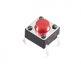 Red Button 6*6*5mm 6x6x5mm Button Tact Switch Microswitch