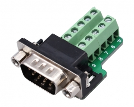 DB9-G9 DB9 Nut Type Connector 9Pin Male Adapter Terminal Module