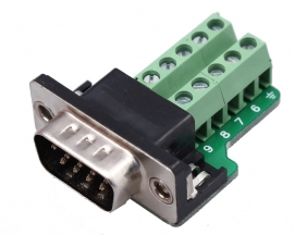DB9-G9 DB9 Teeth Type Connector 9Pin Male Adapter Terminal Modul