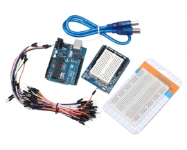 Funduino UNO R3 Learning Kit with Shield + Breadboard + 65pcs Ma
