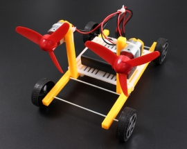 Wind Power Car Educational DIY Car Hobby Robot Puzzle IQ Gadget