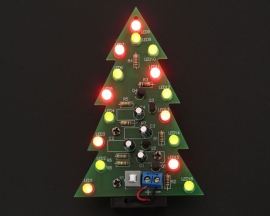 DIY Kit Red Green Flash LED Circuit Christmas Trees LED