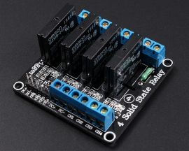 5V 4 Channel SSR Solid-State Relay High Level Trigger 240V 2A