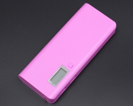 Purple 5V 2A 1A Dual-USB 18650 Battery Mobile Power Bank Charger