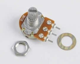 10K Ohm B10K Knurled Shaft Linear Rotary Taper Potentiometer