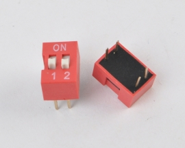 Red 2mm Pitch 2 Position Ways Slide Type DIP Switch