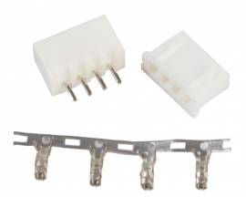 4 Pin White Connector Leads Head XH2.54 2.54mm Kit DI