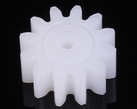 Plastic Reduction Gear 12 Teeth M1 Modulus 1 for DIY Toys Robot Model Car