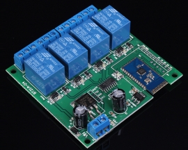 4-Channel Multifunctional Bluetooth Relay Module 12V for Android Intelligent Control