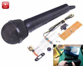FM Frequency Modulation DIY Kits Wireless Microphone Electronic Suite