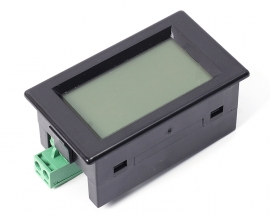 2-Wire Frequency Meter Digital Voltmeter LCD Display W/ Black Shell AC80-300V for Industrial Control